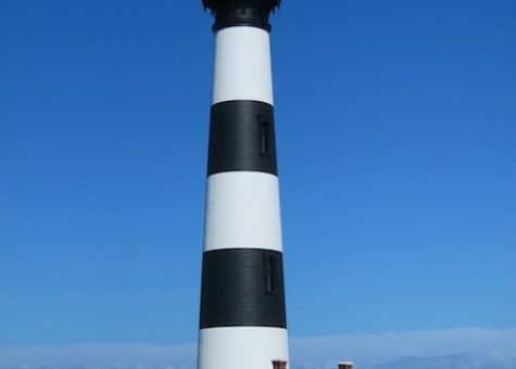 photo of lighthouse and a clear blue sky